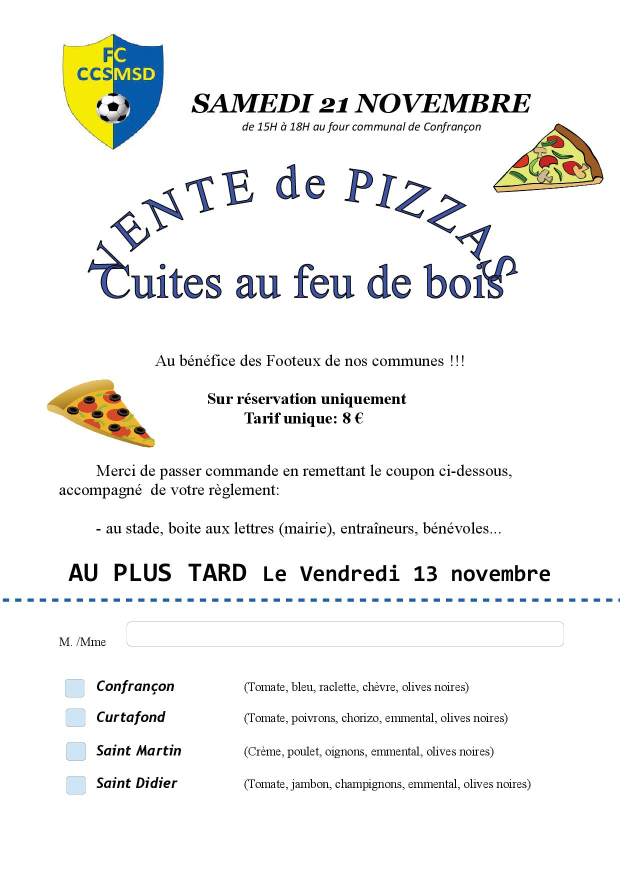 affiche pizza 2021 foot